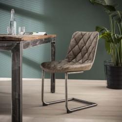 Lot 2 chaises design avec pied métallique