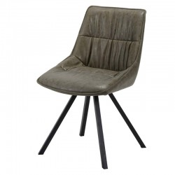 Lot 2 chaises design en similicuir