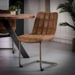 Lot 2 chaises design couture carrée