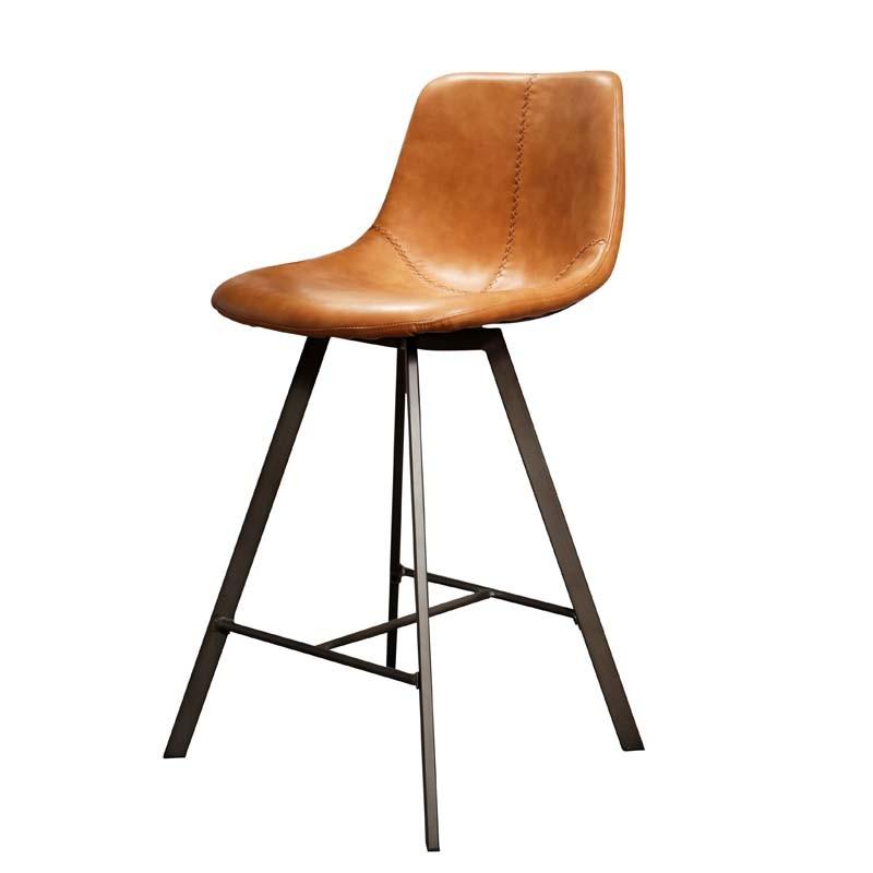 Lot 2 chaises hautes en similicuir couture zigzag