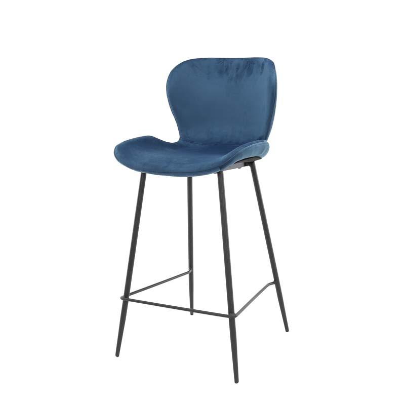 Lot 2 chaises hautes en velours