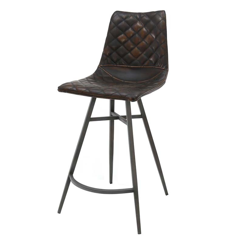 Lot 2 chaises hautes motif diamant