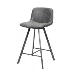 Lot 2 chaises hautes en similicuir