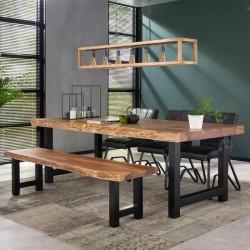 Banc de table à manger forme tronc d'arbre