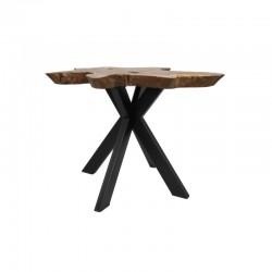 Table basse en teck forme naturelle 55 Burny