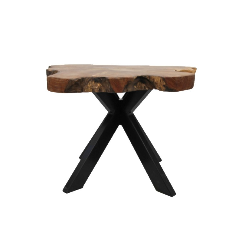 Table basse en teck forme naturelle 45 Burny